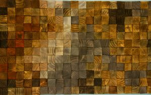 Rustic Wood wall Art, wood wall sculpture, abstract wood art mosaic