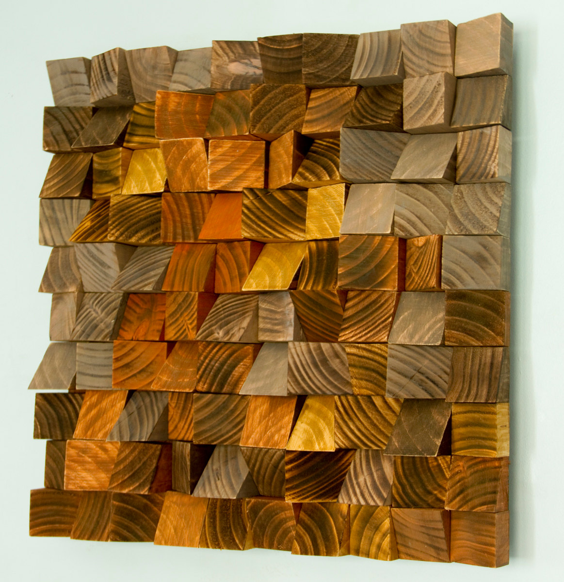 "Wood Wall Art, geometric wood art, industrial decor, ""Factory Rust"""