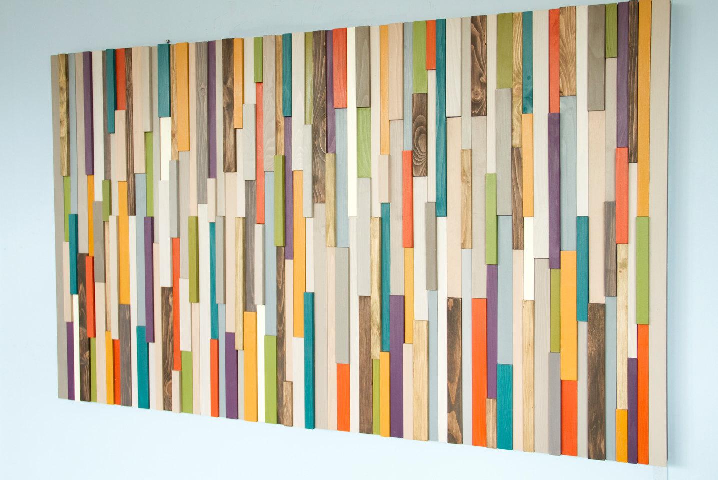 Wood Wall Art, Large sculpture, wood art decor, 2016 colour trends, modern decor