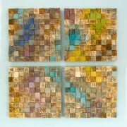 Wood Wall Art, mosaic wood art, geometric wall art