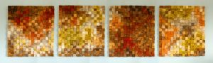 Wood Wall Art, music sound diffusor, autumn 2016 colour trends