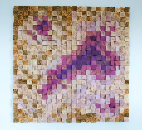 "Wood Wall art, Office Wall Decor, Wood Art Sculpture , geometric mosaic, 40"" x 40"""