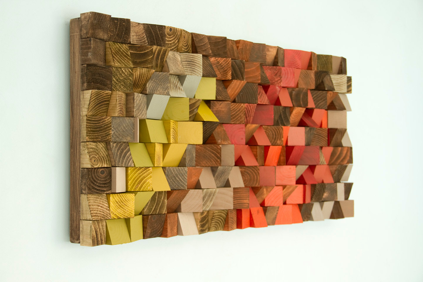 "Wood Wall Art, reclaimed wood art, industrial decor, ""Fire sparks"""