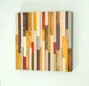 Wood Wall Art, reclaimed wood decor, 3D, Black Friday 20 x 20