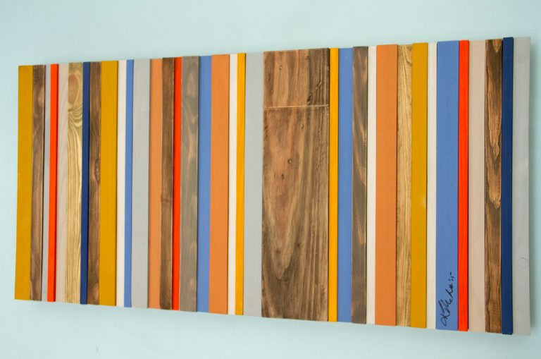 Wood Wall Art - Reclaimed Wood Decor, Modern wood sculpture, Customize