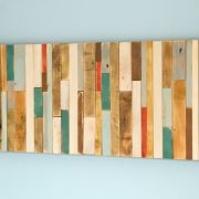 "Wood Wall Art Rustic 12"" x 28"" industrial reclaimed wall sculpture"