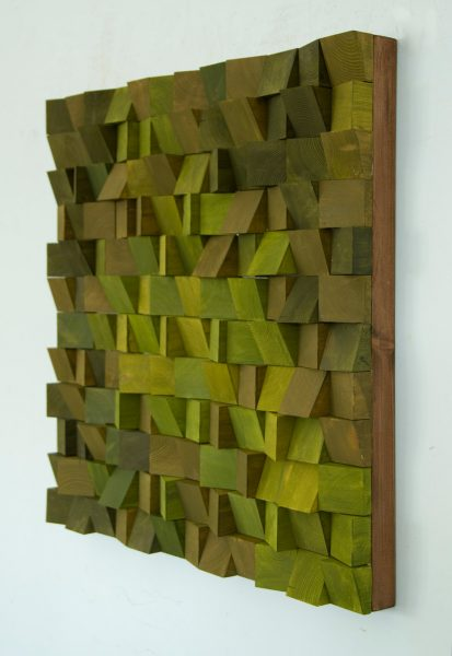 Wood Wall Art, SALE monochromatic wood art in blues, new 2017 designs, wooden sound diffuser, wood sound diffusor,
