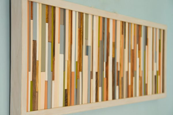 Wood Wall Art Sculpture, skinny wood pieces - featured on ApartmentTeraphy.Com, SALE