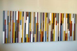 "Wood Wall Art, wall sculpture as seen in ""The Simple Things"" wood art decor, 24 x 64, headboard"