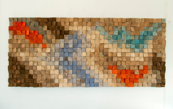 Wood Wall Rustic Art, SALE wood wall sculpture, abstract painting on wood